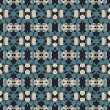 Altes geometrisches Muster in der Wiederholung Gewebedruck Nahtloser Hintergrund, Mosaikverzierung, ethnische Art Lizenzfreie Stockfotografie