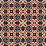 Altes geometrisches Muster in der Wiederholung Gewebedruck Nahtloser Hintergrund, Mosaikverzierung, ethnische Art Stockfotos