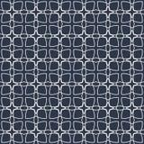 Altes geometrisches Muster in der Wiederholung Gewebedruck Nahtloser Hintergrund, Mosaikverzierung, ethnische Art Stockfotografie
