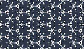 Altes geometrisches Muster in der Wiederholung Gewebedruck Nahtloser Hintergrund, Mosaikverzierung, ethnische Art Lizenzfreies Stockfoto