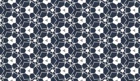 Altes geometrisches Muster in der Wiederholung Gewebedruck Nahtloser Hintergrund, Mosaikverzierung, ethnische Art Stockbild