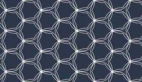 Altes geometrisches Muster in der Wiederholung Gewebedruck Nahtloser Hintergrund, Mosaikverzierung, ethnische Art Lizenzfreie Stockbilder