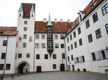 Altes Gericht in M?nchen, Deutschland Ehemaliger Wohnsitz von Louis IV lizenzfreie stockfotografie