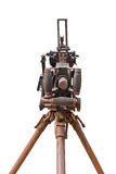 Altes Gewehr am Museumsisolat auf Weiß Lizenzfreies Stockbild