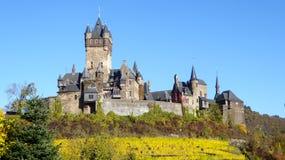 Altes Gipfelschloss in Cochem Deutschland Stockbild