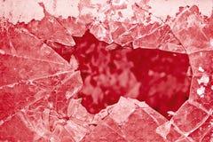 Altes glasverstärktes beschädigt mit Maschendraht - getontes Bild Lizenzfreie Stockfotografie