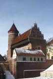 Schloss in Olsztyn Stockbilder