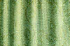 Altes Grün des Vorhangs Lizenzfreie Stockfotos