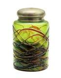 Altes Grün kann gebildet vom venetianischen Glas Lizenzfreies Stockbild