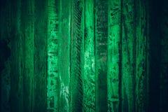 Altes grünes Weinleseholz Hölzerne Beschaffenheit und Hintergrund der dunkelgrünen Weinlese Abstrakte Beschaffenheit und Hintergr Lizenzfreies Stockbild