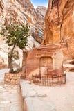 Altes Grab in der Schlucht Siq, PETRA Stockbilder