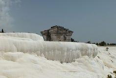 Altes Grab in Pamukkale, die Türkei Lizenzfreies Stockfoto