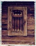 Altes grainery Fenster - polaroidbildübertragung Lizenzfreie Stockbilder