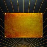Altes grunge Gold Metallplatten Lizenzfreie Stockfotos