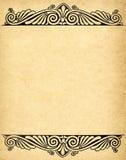 Altes grunge Papier mit Victorianart Stockbilder