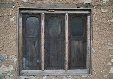 Altes grungy Fenster Stockfoto
