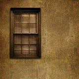 Altes Grungy Fenster und Wand Stockbild