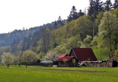 Altes Häuschen Stockfoto