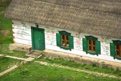 Altes hölzernes Bauernhaus Stockfotos