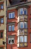 Altes hölzernes Erkerfenster, Rottweil, Deutschland Lizenzfreie Stockfotografie