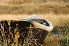 Altes hölzernes Fischboot Lizenzfreies Stockfoto