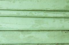 Altes hölzernes gemaltes Grün Stockfotografie