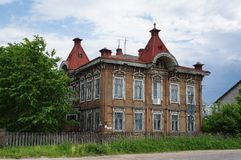 Altes hölzernes Haus Lizenzfreies Stockbild