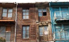 Altes hölzernes Haus in der Edirne-Stadt stockfotografie
