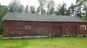 Altes hölzernes Haus, Lettland lizenzfreie stockfotografie