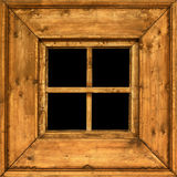 Altes hölzernes landwirtschaftliches Fensterfeld Stockfotografie