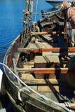 Altes hölzernes Segelboot Lizenzfreies Stockbild