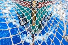 Altes hölzernes Segelboot Stockfoto