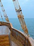 Altes hölzernes Segelboot Stockbilder