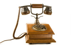 Altes hölzernes Telefon stockfotografie