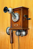 Altes hölzernes Telefon Lizenzfreies Stockfoto
