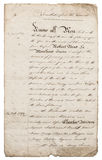 Altes handgeschriebenes Zeichen manuskript Papierhintergrund mit Rändern lizenzfreie stockfotografie