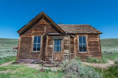 Altes Haus bei Bodie Ghost Town Stockbild