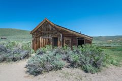 Altes Haus bei Bodie Ghost Town Stockfoto
