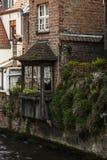Altes Haus in Brügge, Belgien lizenzfreies stockbild