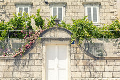 Altes Haus in Dalmatien, Kroatien Lizenzfreies Stockbild