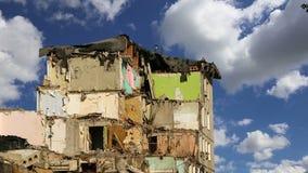 Altes Haus der Demolierung Moskau, Russland stock video footage