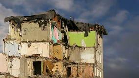 Altes Haus der Demolierung Moskau, Russland stock footage