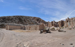 Altes Haus des luftgetrockneten Ziegelsteines in den Anden Lizenzfreie Stockfotografie