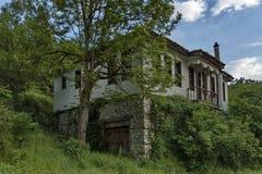 Altes Haus duckte sich im Wald stockfotos