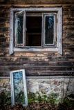 Altes Haus-Fenster stockfoto