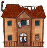 Altes Haus gemacht vom Holz vektor abbildung