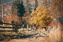 Altes Haus im Holz Stockfoto
