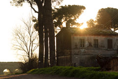 Altes Haus im Park der Aquädukte stockbild