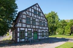 Altes Haus in Klaipeda, Litauen Lizenzfreies Stockbild