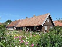 Altes Haus, Litauen Stockfotografie